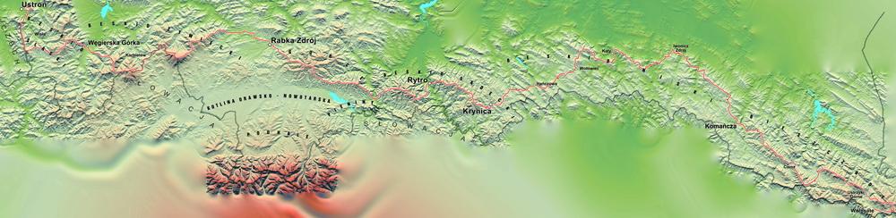 Główny Szlak Beskidzki - biegowy rekord Piotra Kłosowicza