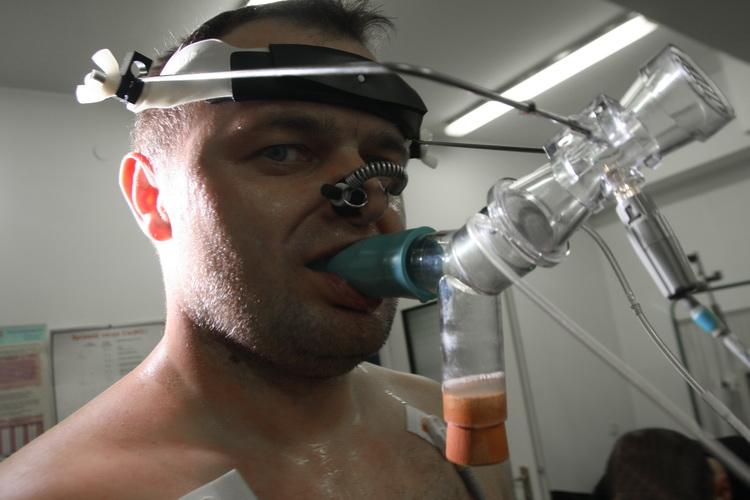 Badanie wydolnościowe w laboratorium PAN