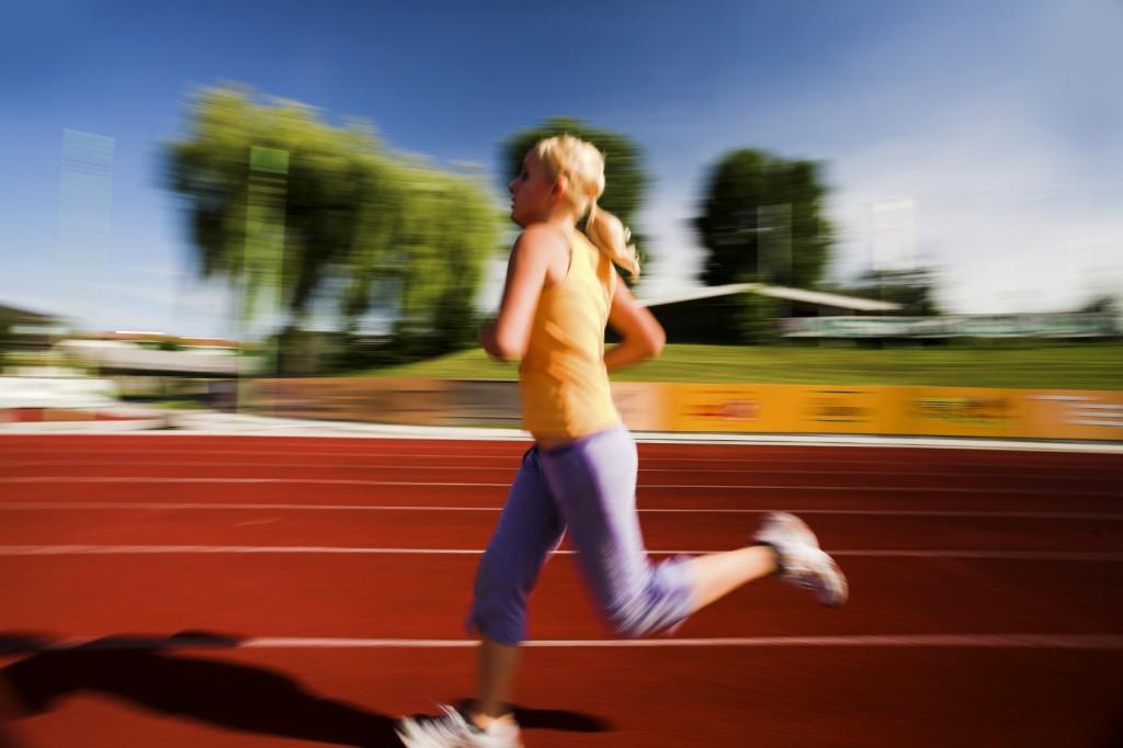 Bieganie na stadionie