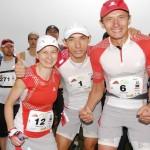 Maraton Gór Stołowych - Magda Łączak, Marcin Świerc i Paweł Dybek. Fot. Monika Strojny