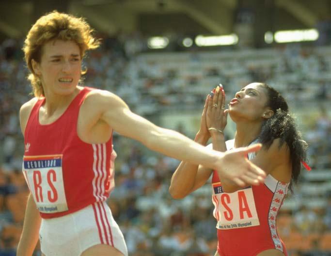 Florence Griffith-Joyner i Olga Bryzgina, Seul 1988. Fot. Getty Images/Flash Press Media