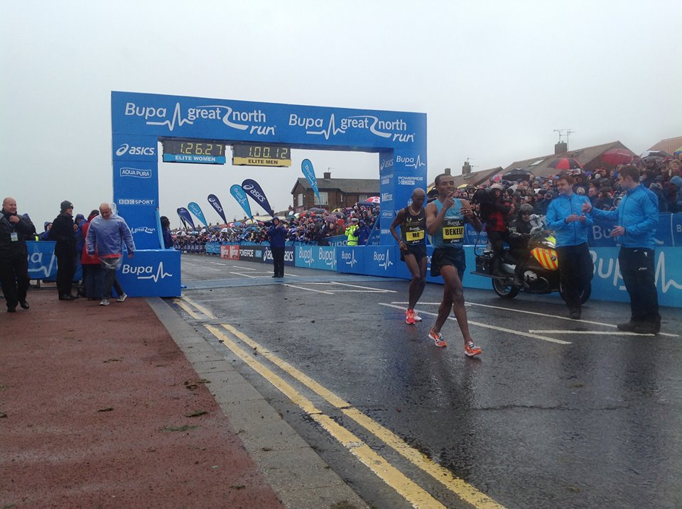 Kenenisa Bekele i Mo Farah w Newcastle. Fot. Bupa Great North Run