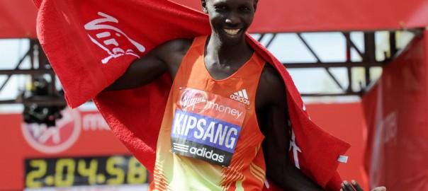 Wilson Kipsang - zwycięzca London Maraton 2012. Fot. PAP