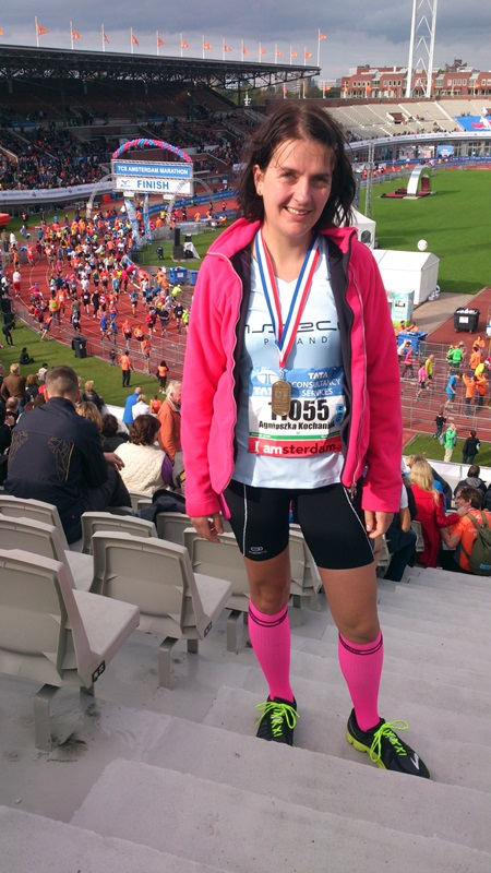 Agnieszka na Amsterdam Maraton