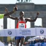 Wilson Kipsang - rekordzista świata w maratonie, w 40. BMW Marathon. Fot. East News
