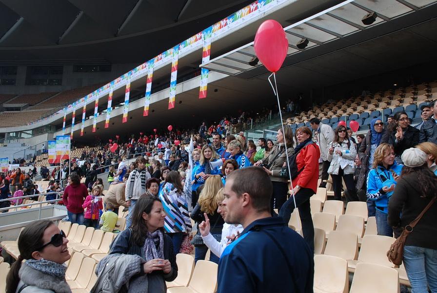 Maraton w Sewilli - stadion olimpijski. Fot. Marek Tronina
