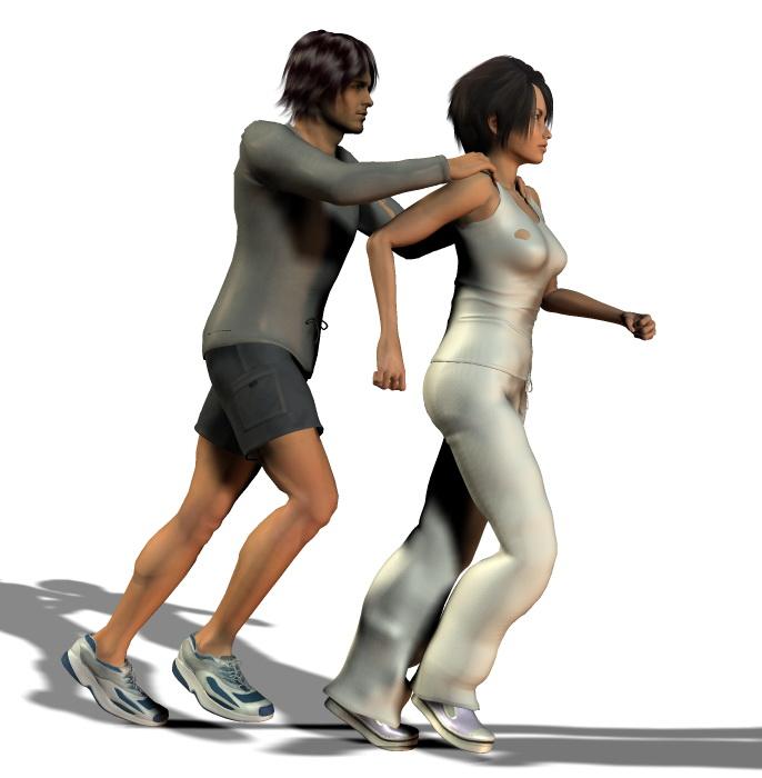 Ćwiczenia dla biegaczy. Metoda POSE. Rys. Magda Ostrowska-Dołęgowska