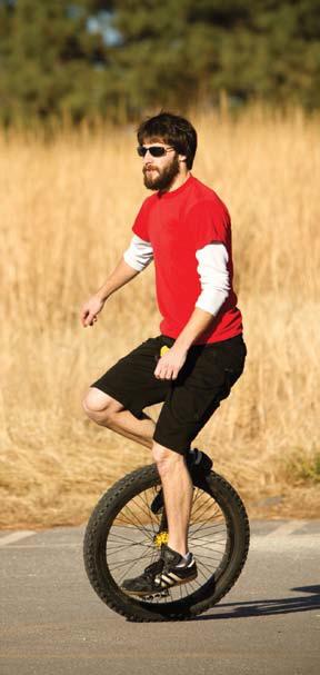 Bieganie metodą POSE przypomina jazdę na monocyklu. Fot. istockphoto.com