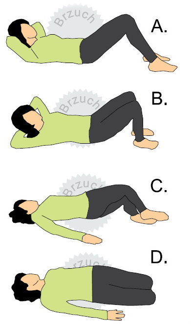 Ćwiczenia dla biegaczy na brzuch. Rys. Magda Ostrowska-Dołęgowska