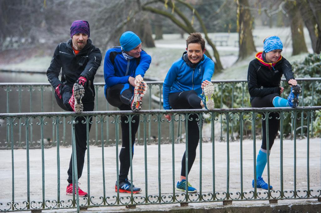 Uczestnicy projektu Być jak Bekele - przez kilka miesięcy będą pracować nad poprawą techniki biegania. Fot. Piotr Dymus