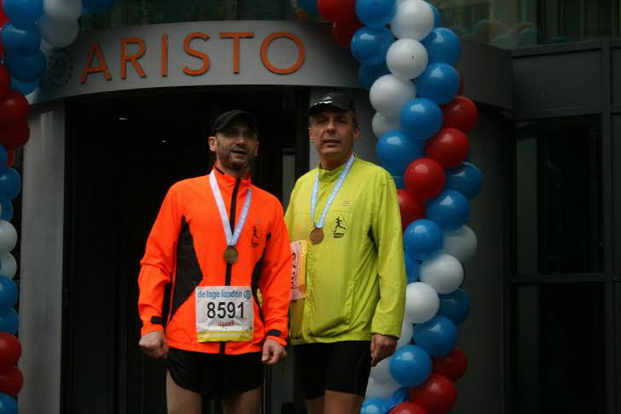 Eindhoven Marathon Szakale Bałut na mecie. Fot. Archiwum Szakali Bałut