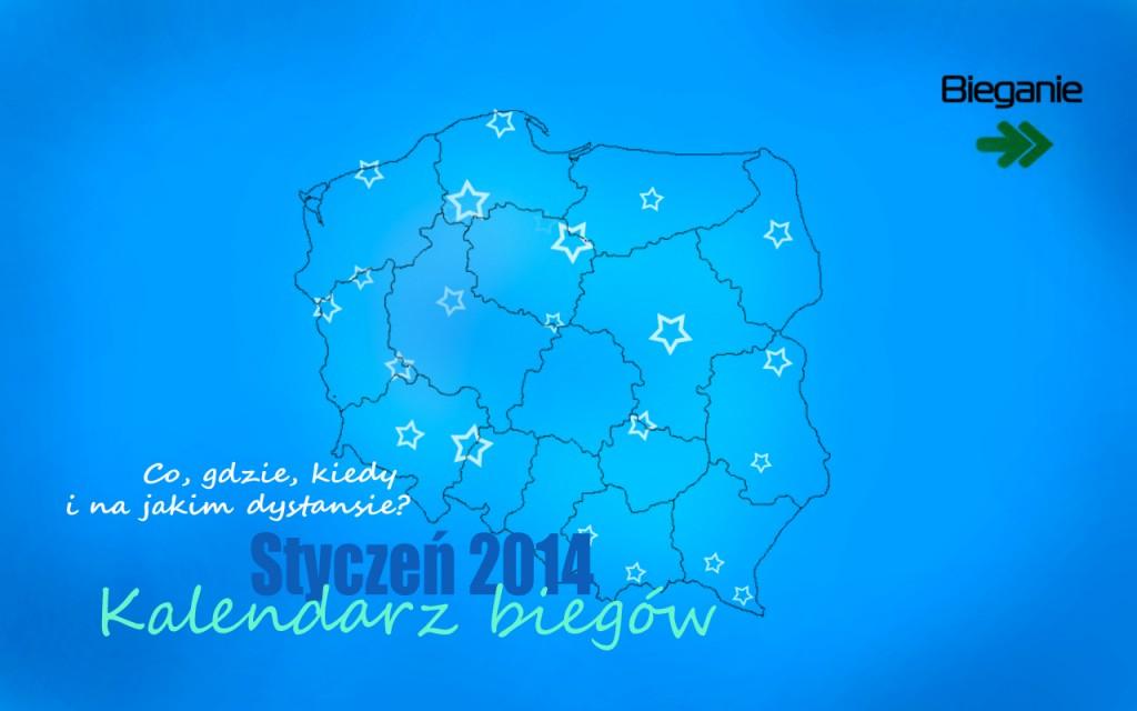 Kalendarz biegow styczen. Rys. Magda Ostrowska-Dołęgowska