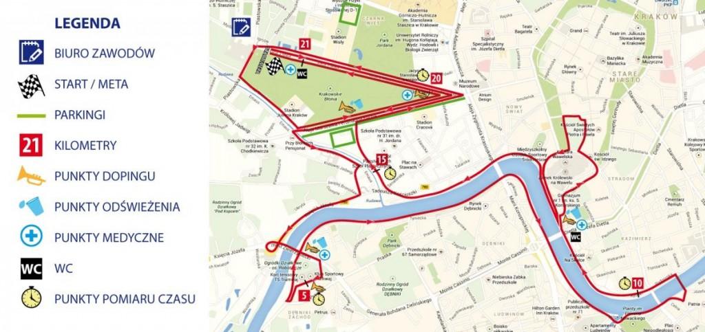 Trasa Półmaratonu Marzanny