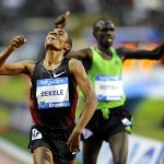 Kenenisa Bekele zwycięża na 10 000 metrów w Memoriale Ivo Van Damme - mityngu Diamentowej Ligi w Belgii, 16 września 2011. Fot. PAP