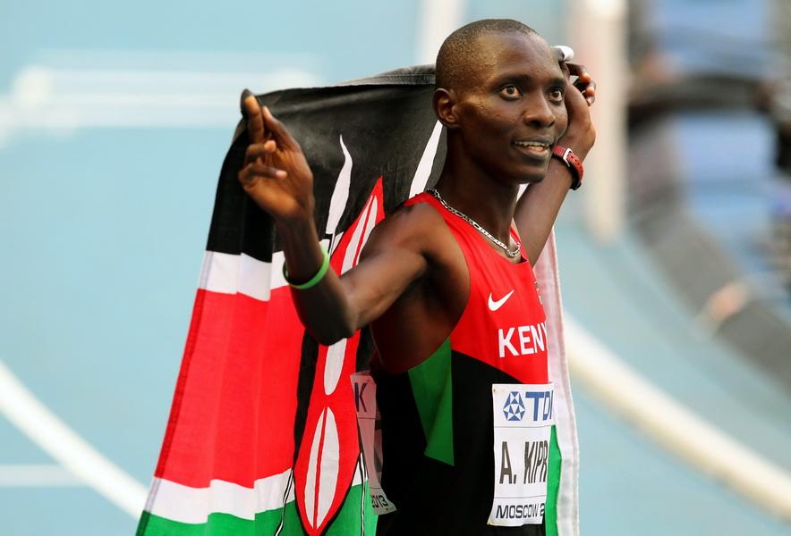 Asbel Kiprop - mistrz świata na 1500 metrów. Fot. PAP