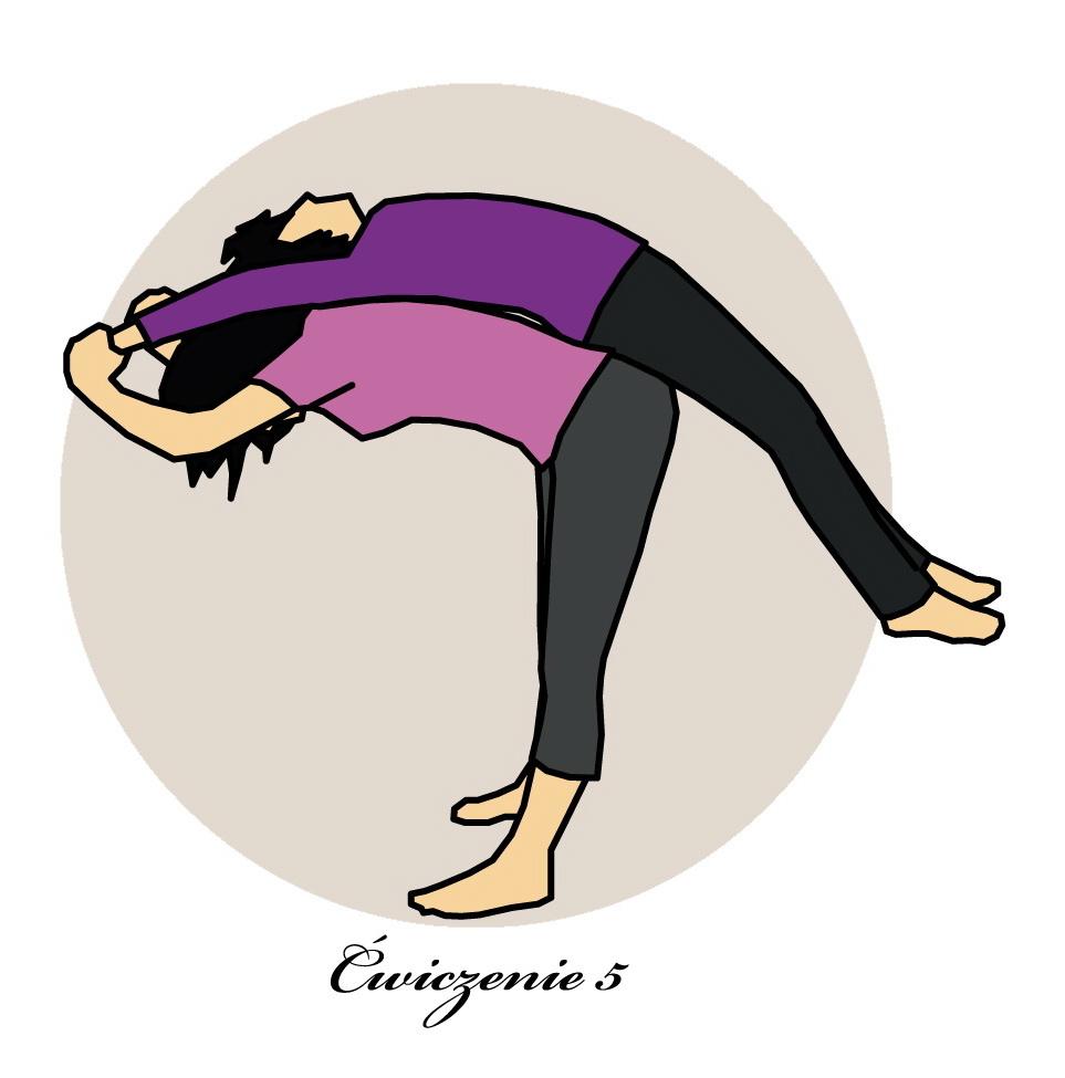 Ćwiczenia dla biegaczy w parach. Rys. Magda Ostrowska-Dołęgowska