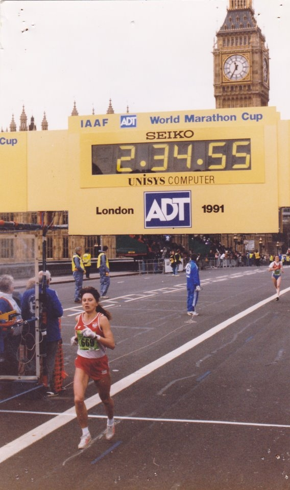 Izabela Zatorska w na maratonie w Londynie. Fot. Archiwum Izabeli Zatorskiej