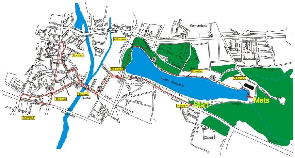 Maniacka Dziesiątka - mapa trasy