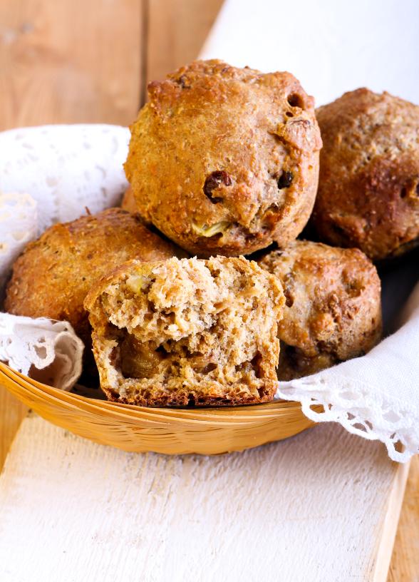 Muffiny pełnoziarniste z żurawiną. Fot. istockphoto.com