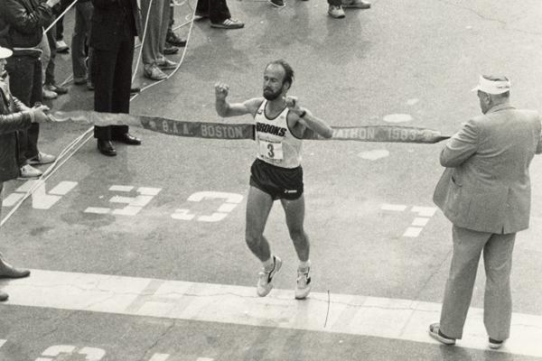 1983 - Greg Meyer - ostatni Amerykanin, który zwyciężył w Bostonie. Fot. www.BAA.org