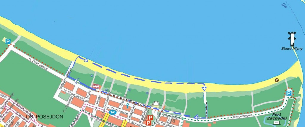 Bieg Konstytucji Świnoujście - mapa trasy