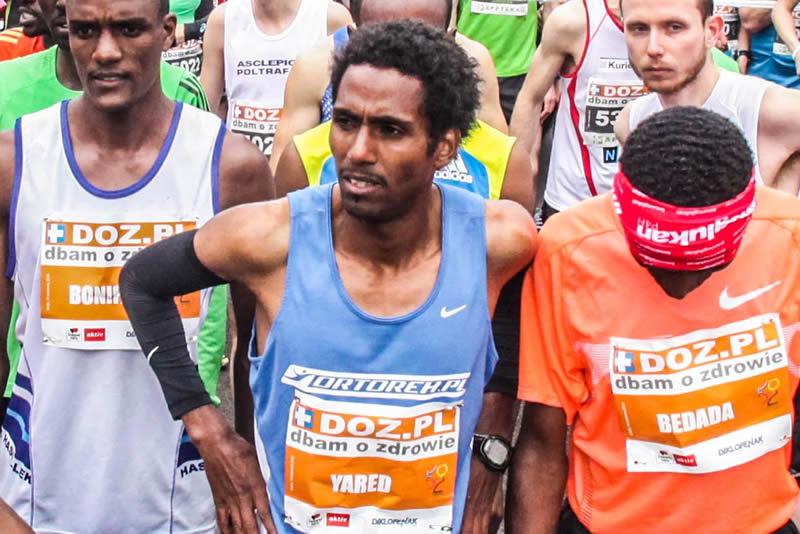 Yared Shegumo podczas Łódź Maraton Dbam o Zdrowie. Fot. materiały organizatora