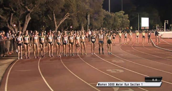 Kobiety 5000 m na Payton Jordan Invitational. Fot. Facebook.com/Flotrack