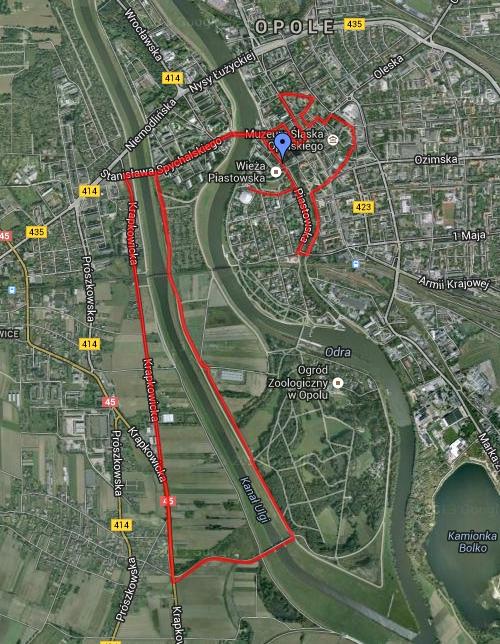 Maraton Opolski - mapa