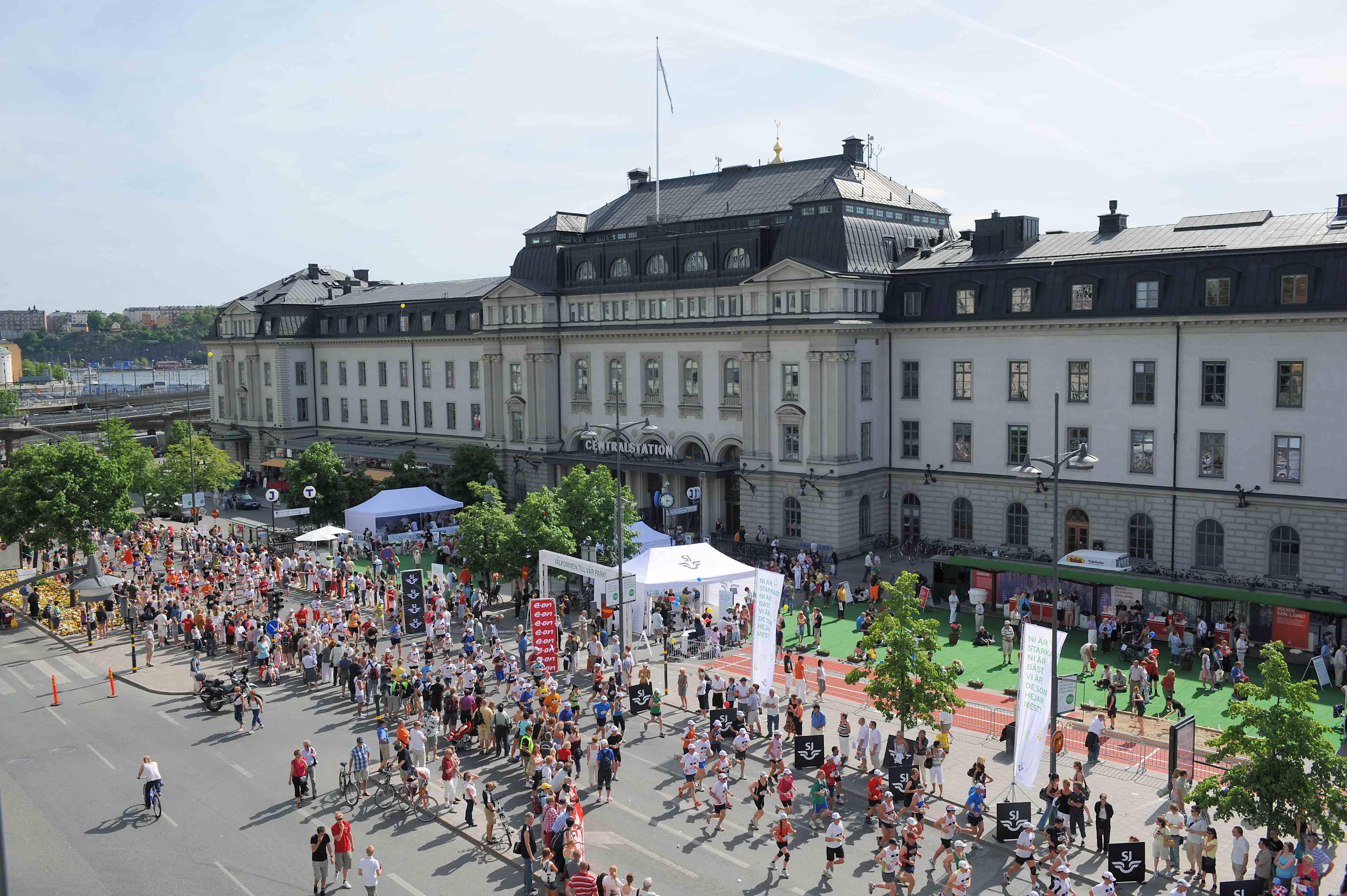 Asics Stockholm Marathon, Dworzec Centralny, fot. mat. prasowe