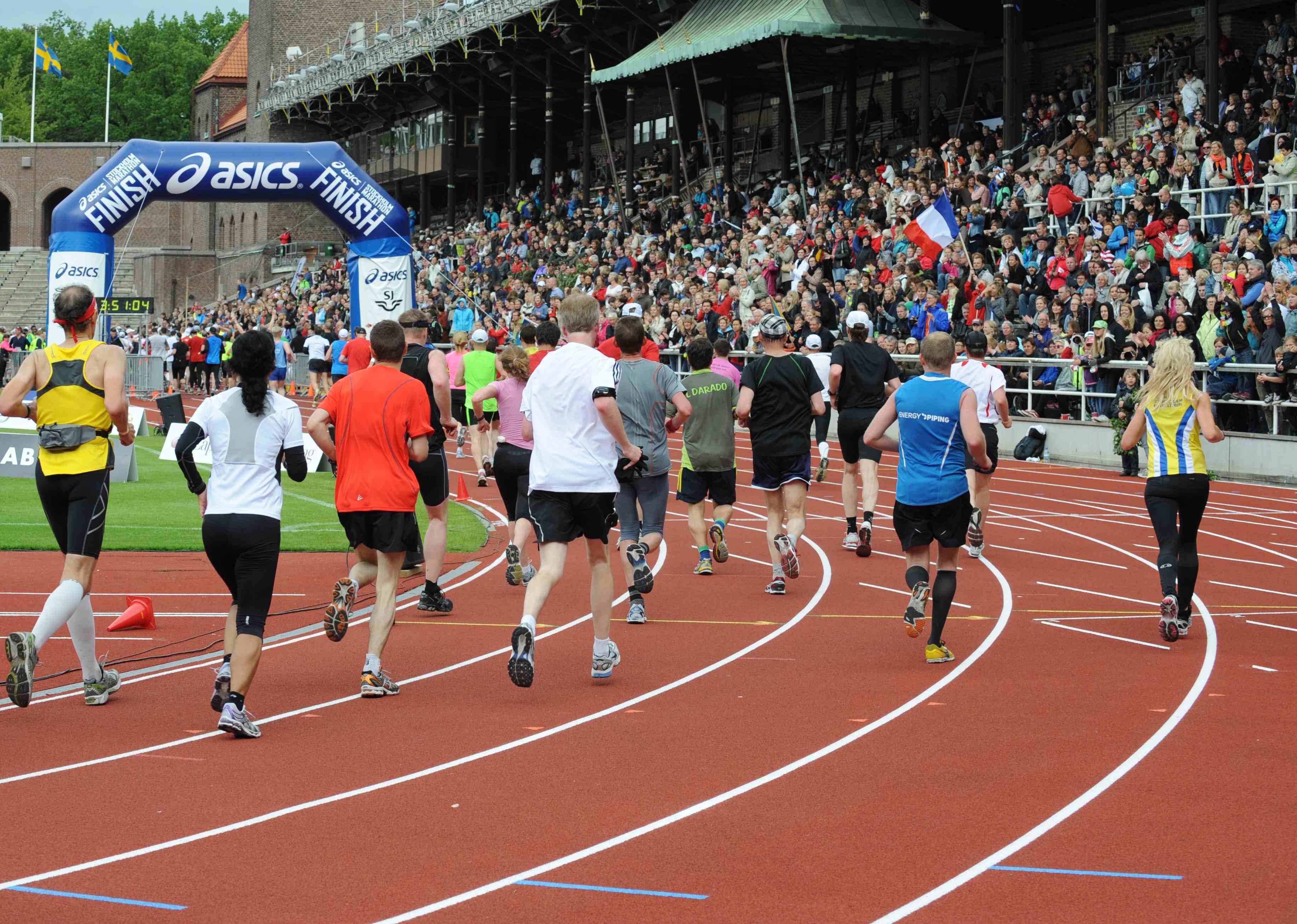 Asics Stockholm Marathon, meta, fot. materiały prasowe
