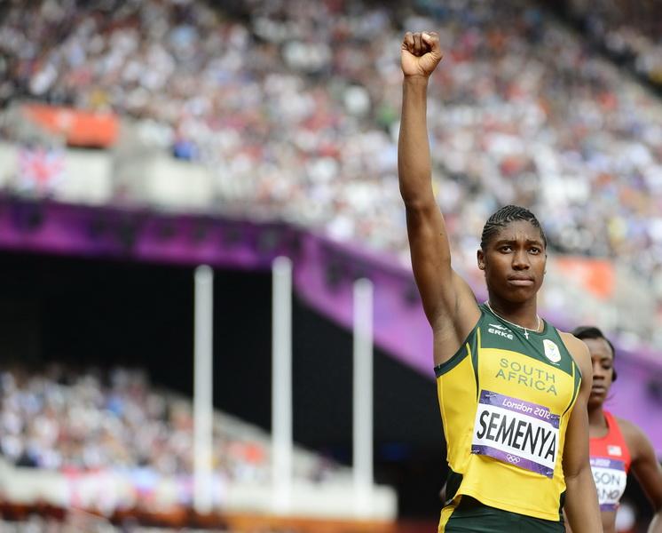 Caster Semenya na Igrzyskach Olimpijskich w Londynie w 2012 roku. Fot. PAP