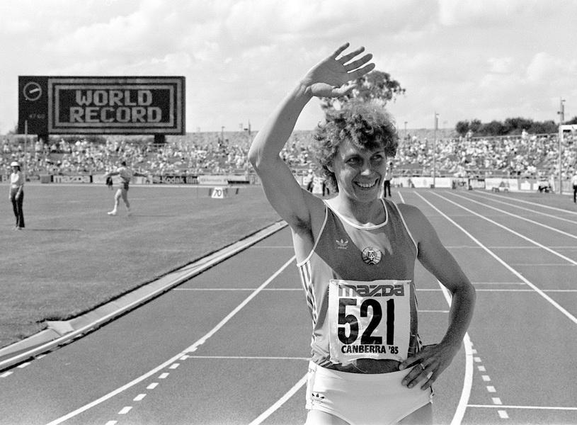 Marita Koch, Canberra 1985. Fot. PAP