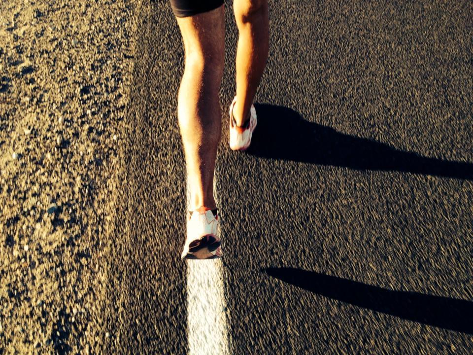 Darek Strychalski na Badwater Ultramarathon - zostalo mu 100 km Fot Filip Bojko