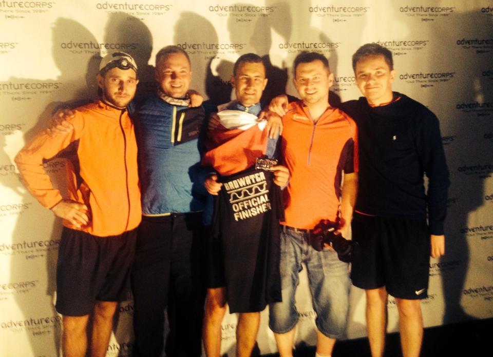 Darek Strychalski na mecie Badwater Ultramarathon. Fot. Fb Zwycięzca