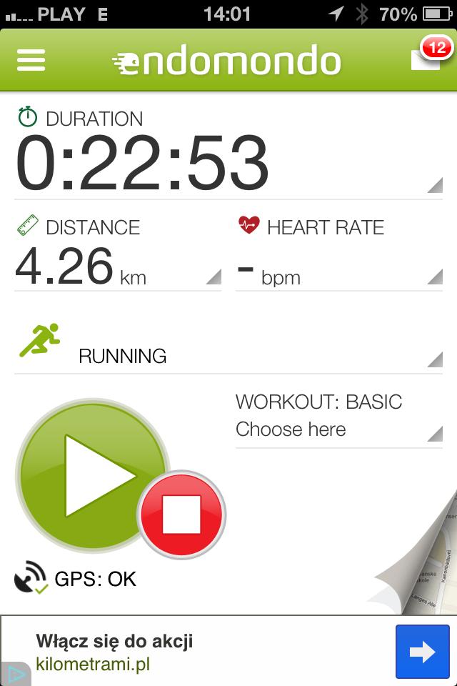 Endomondo aplikacje do biegania
