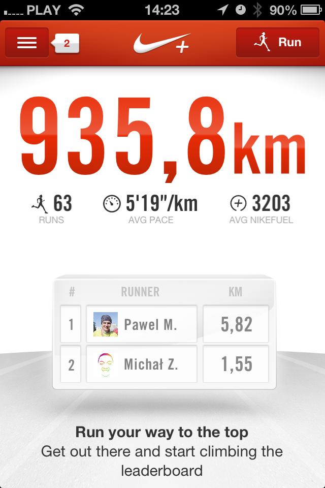 Nike plus - aplikacja do biegania
