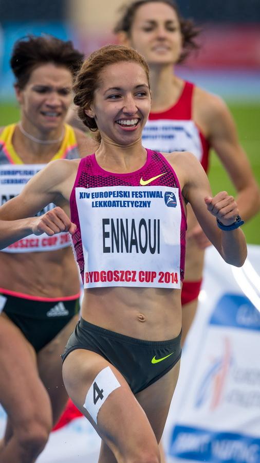 Sofia Ennaoui Polska - 1 m. , bieg 800 m., podczas XIV Europejskiego Festiwalu Lekkoatletycznego w Bydgoszczy. Fot. PAP/Tytus Żmijewski