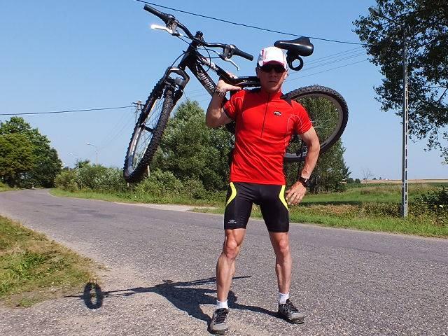 Piotr Kurylo z rowerem fot. archiwum prywatne