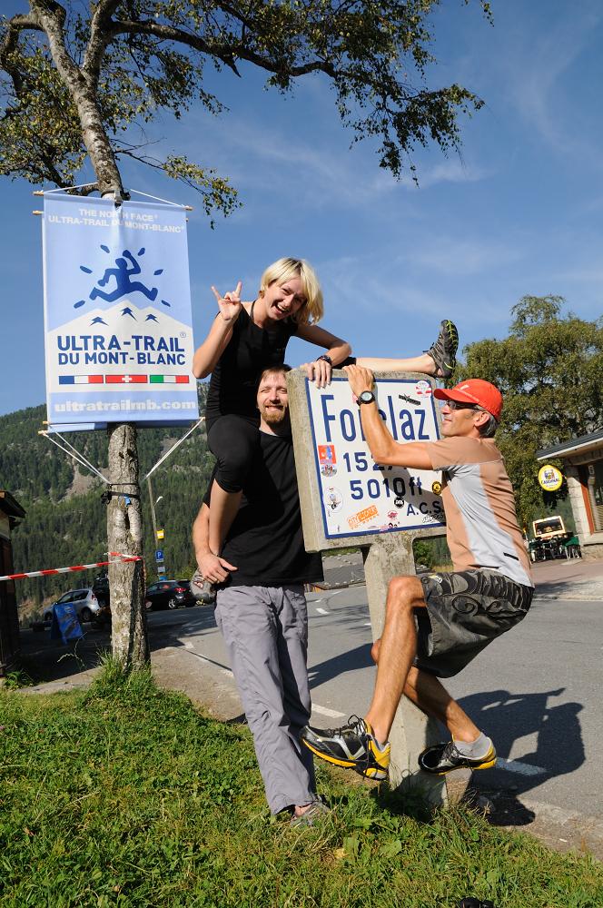 W 2011 roku pojechaliśmy do Chamonix niewielką grupką. Startowałam w CCC, Krzysiek w UTMB. Fot. Piotr Dymus