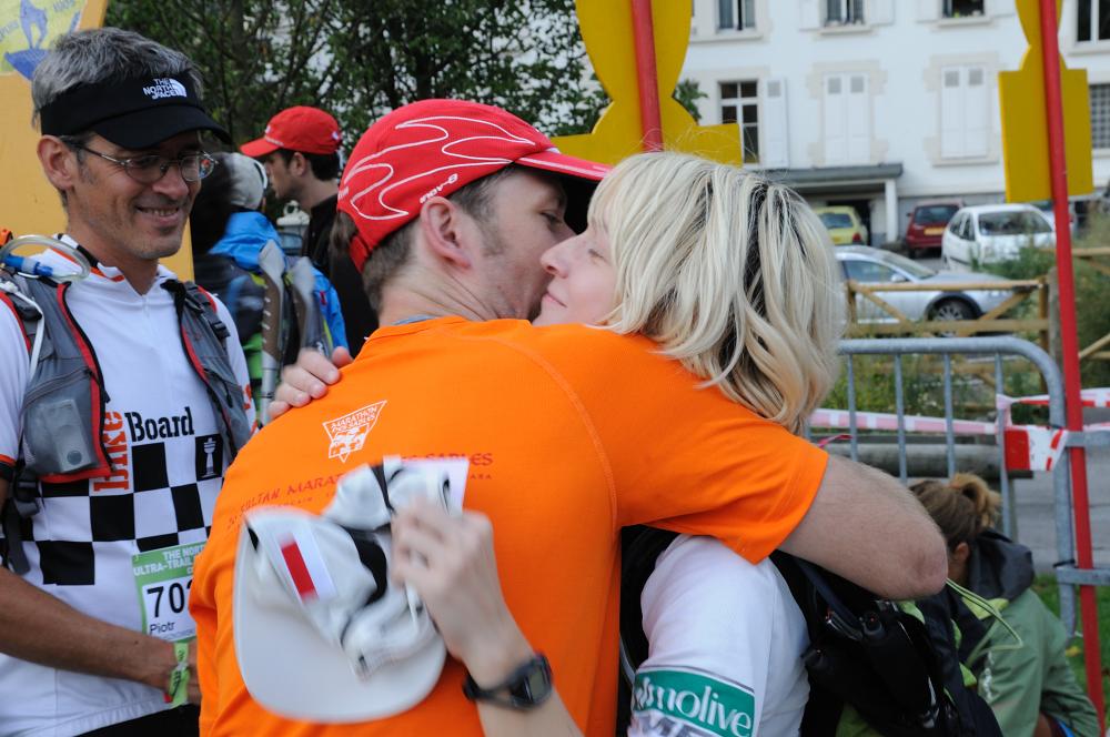 Krzysiek dodaje mi otuchy przed startem w CCC w 2011 roku. Fot. Piotr Dymus