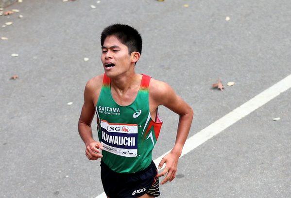 2013 ING New York City Marathon. Yuki Kawauchi. Fot. Getty Images