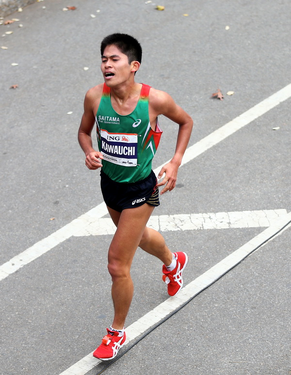 2013 ING New York City Marathon. Yuki Kawauchi. Fot. Getty Images