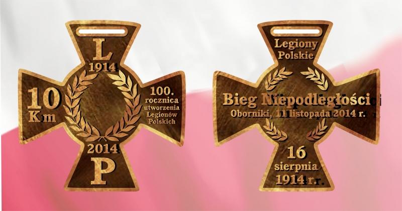 Bieg Niepodległości Oborniki - medal