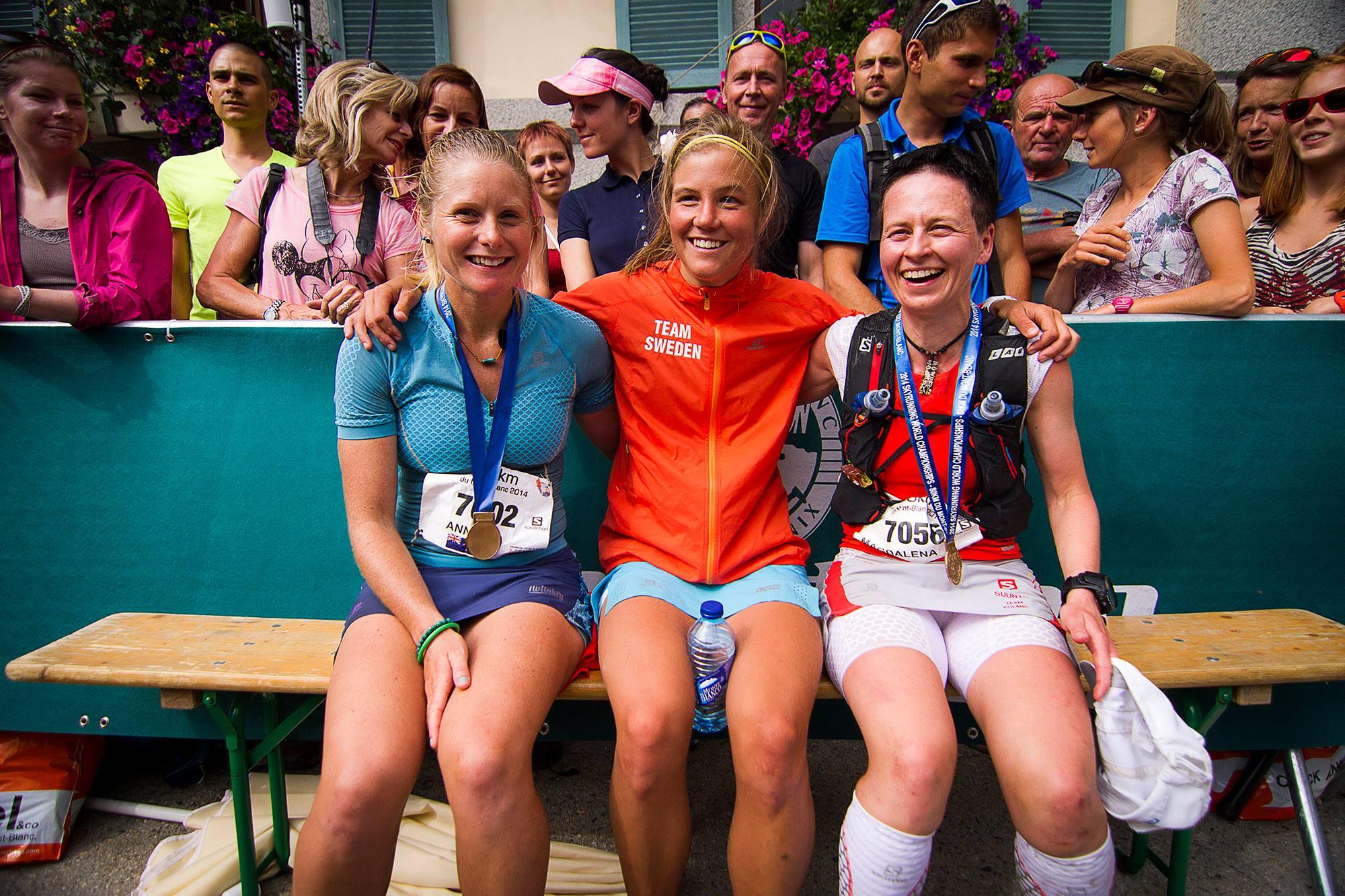 Emelie Forsberg Anna Frost Magda Łączak - Mistrzostwa Świata Skyrunning 2014 Fot. Jan Wierzejski