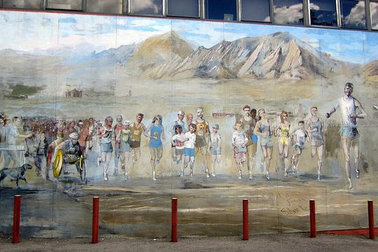 <h6>Mural na rogu ulic Broadway i Spruce Street</h6>