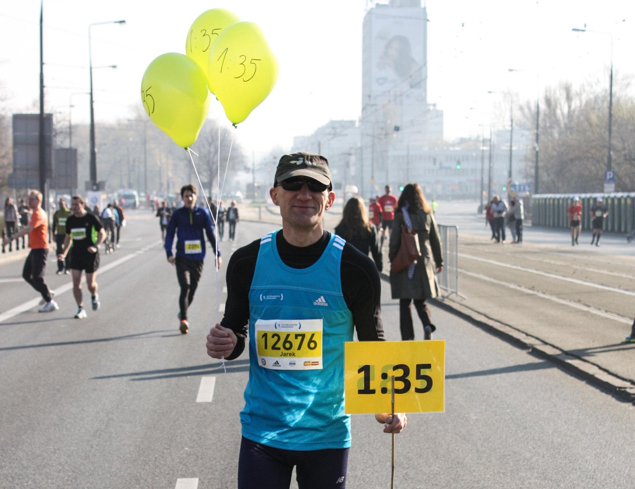 Pacemaker. Półmaraton Warszawski 2014. Fot. Marta Tittenbrun