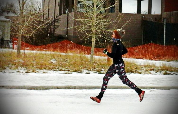 Pumpkin Pie 10 k Race Denver. Magda na trasie. Fot. Halina Ostrowska