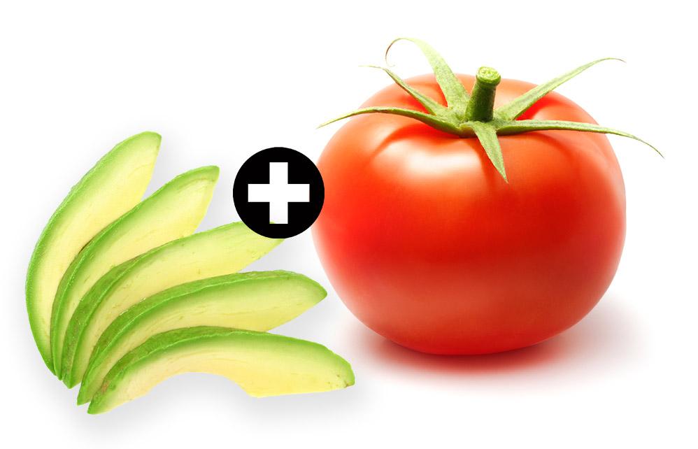 awokado - pomidor
