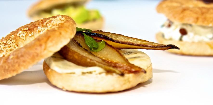 Bajgle z warzywami na śniadanie przed zawodami. Fot. Łukasz Pura