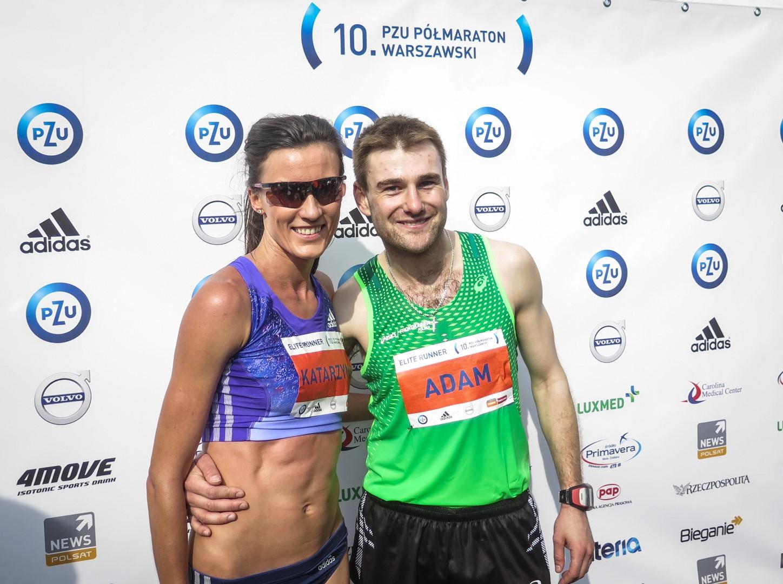 Kasia Kowalska i Adam Nowicki - 10. PZU Półmaraton Warszawski
